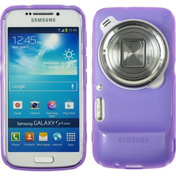 Silikon Hülle Galaxy S4 Zoom matt lila Case