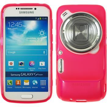 Silikon Hülle Galaxy S4 Zoom matt pink