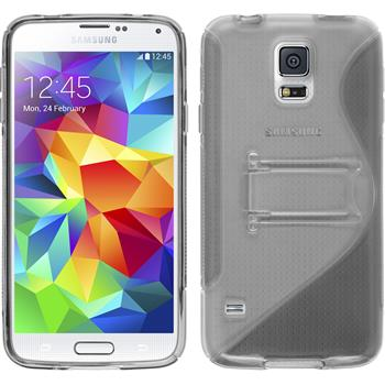 Silicone Case for Samsung Galaxy S5  gray