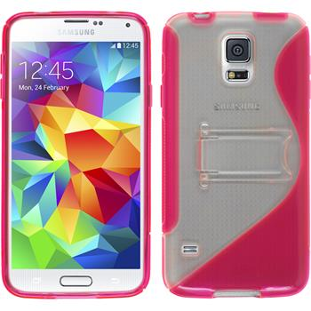 Silicone Case for Samsung Galaxy S5  hot pink
