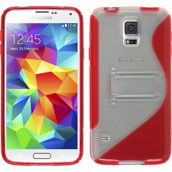 Silikon Hülle Galaxy S5  rot