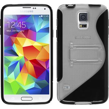Silikon Hülle Galaxy S5  schwarz