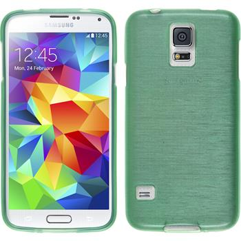 Silikonhülle für Samsung Galaxy S5 brushed grün