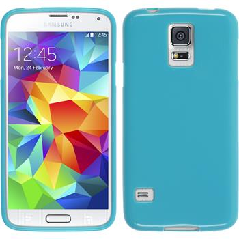 Silicone Case for Samsung Galaxy S5 Candy blue
