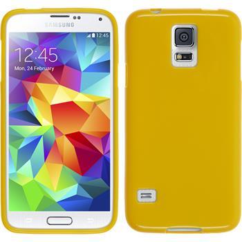 Silikon Hülle Galaxy S5 Candy gelb