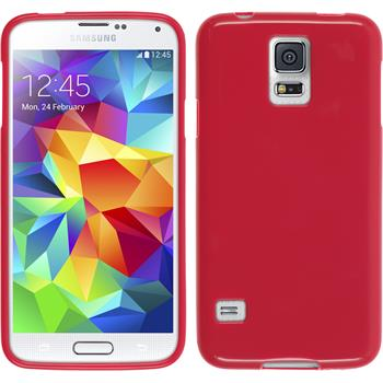 Silicone Case for Samsung Galaxy S5 Candy hot pink