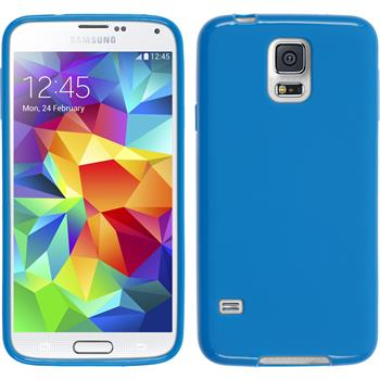 Silicone Case for Samsung Galaxy S5 matt blue