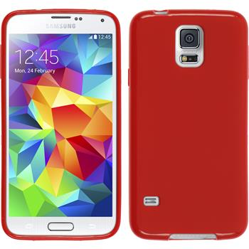 Silicone Case for Samsung Galaxy S5 matt red
