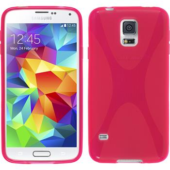 Silicone Case for Samsung Galaxy S5 X-Style hot pink