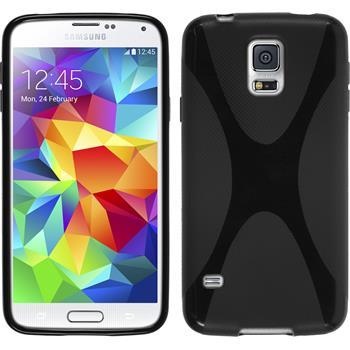 Silikonhülle für Samsung Galaxy S5 X-Style schwarz