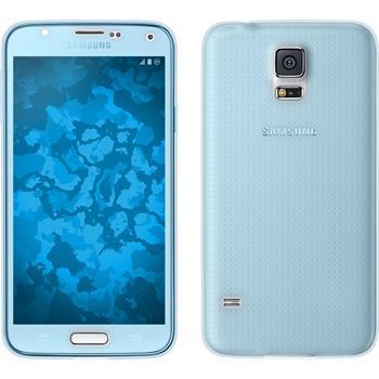 Silikon Hülle Galaxy S5 360° Fullbody hellblau