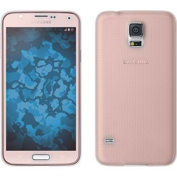 Silikonhülle für Samsung Galaxy S5 360° Fullbody rosa