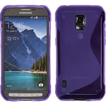 Silikon Hülle Galaxy S5 Active S-Style lila