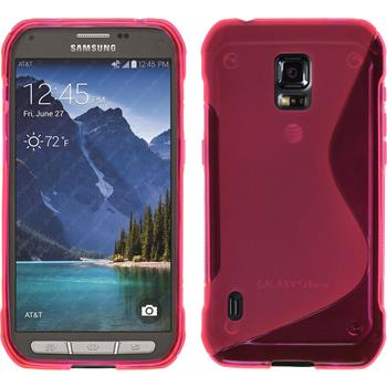 Silikon Hülle Galaxy S5 Active S-Style pink