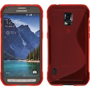 Silikon Hülle Galaxy S5 Active S-Style rot
