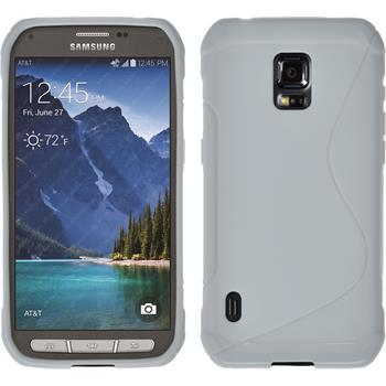 Silikon Hülle Galaxy S5 Active S-Style weiß