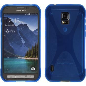 Silikon Hülle Galaxy S5 Active X-Style blau