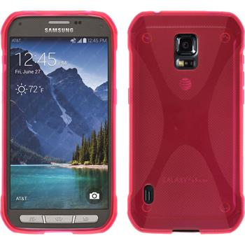 Silikon Hülle Galaxy S5 Active X-Style pink