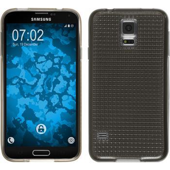 Silikonhülle für Samsung Galaxy S5 Iced grau