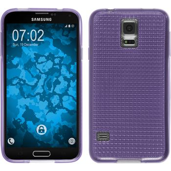 Silikon Hülle Galaxy S5 Iced lila + 2 Schutzfolien