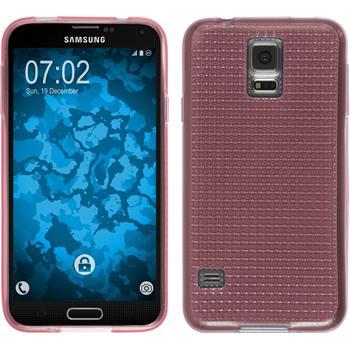 Silikon Hülle Galaxy S5 Iced rosa