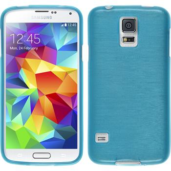 Silikonhülle für Samsung Galaxy S5 mini brushed blau