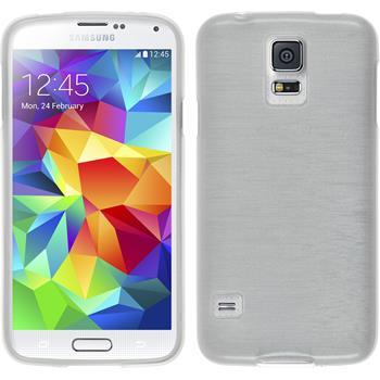 Silikon Hülle Galaxy S5 mini brushed weiß
