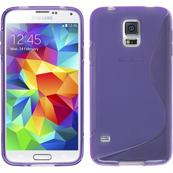 Silikonhülle für Samsung Galaxy S5 mini S-Style lila
