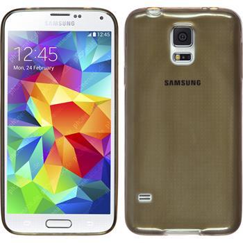 Silikon Hülle Galaxy S5 mini Slimcase grau