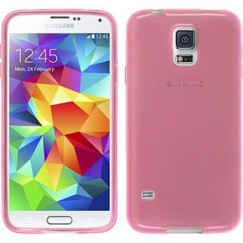 Silikonhülle für Samsung Galaxy S5 mini transparent rosa