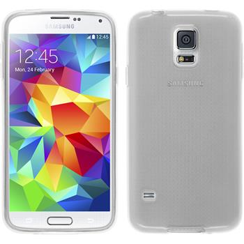 Silikon Hülle Galaxy S5 mini transparent weiß