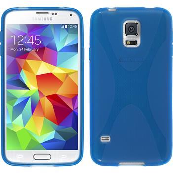 Silikon Hülle Galaxy S5 mini X-Style blau