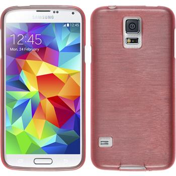 Silikon Hülle Galaxy S5 Neo brushed rosa