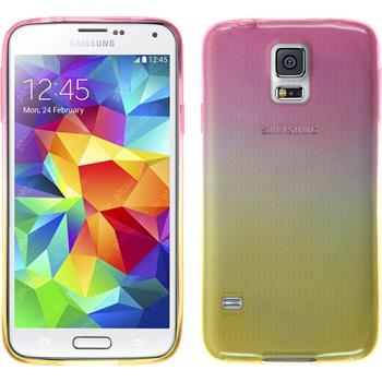 Silikon Hülle Galaxy S5 Neo Ombrè Design:01 + 2 Schutzfolien