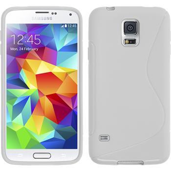 Silikonhülle für Samsung Galaxy S5 Neo S-Style weiß