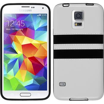Silikon Hülle Galaxy S5 Neo Stripes weiß