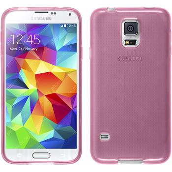 Silikon Hülle Galaxy S5 Neo transparent rosa
