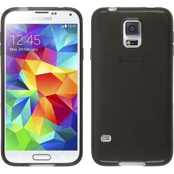 Silikon Hülle Galaxy S5 Neo transparent schwarz