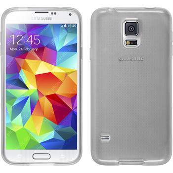 Silikon Hülle Galaxy S5 Neo transparent weiß