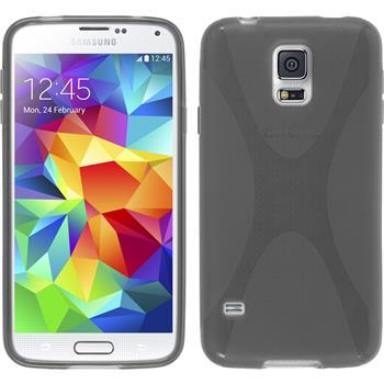 Silikon Hülle Galaxy S5 Neo X-Style grau
