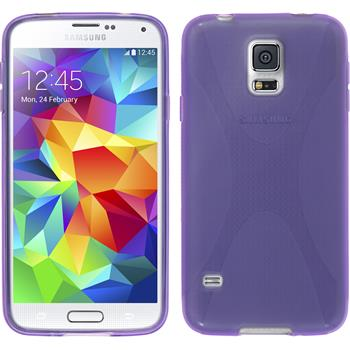Silikonhülle für Samsung Galaxy S5 Neo X-Style lila