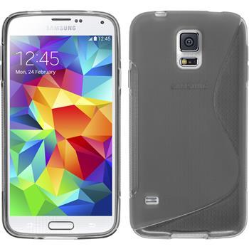 Silikonhülle für Samsung Galaxy S5 S-Style grau