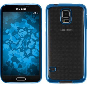 Silikonhülle für Samsung Galaxy S5 Slim Fit blau