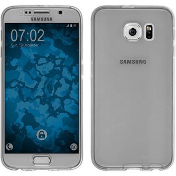 Silikon Hülle Galaxy S6 360° Fullbody grau