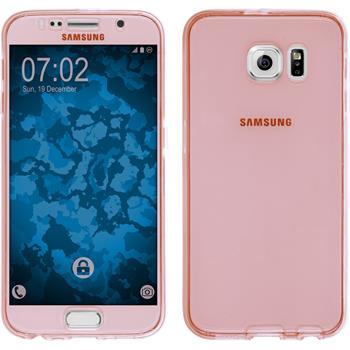Silikon Hülle Galaxy S6 360° Fullbody rosa