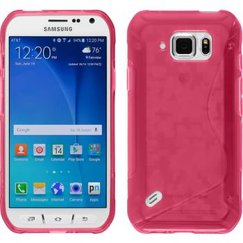 Silikon Hülle Galaxy S6 Active S-Style pink
