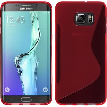 Silikon Hülle Galaxy S6 Edge Plus S-Style rot Case