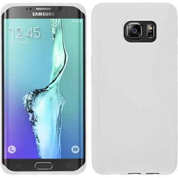 Silikon Hülle Galaxy S6 Edge Plus S-Style weiß