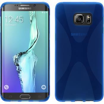 Silikon Hülle Galaxy S6 Edge Plus X-Style blau