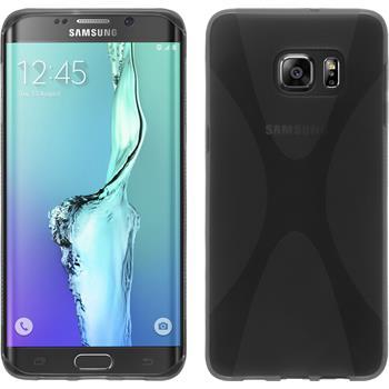 Silikon Hülle Galaxy S6 Edge Plus X-Style grau